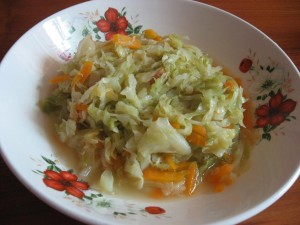 cabbage with dried shrimps